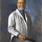 Cand am fost promovat. Portret la comanda pictat manual. Portret barbat. Portret de doctor.