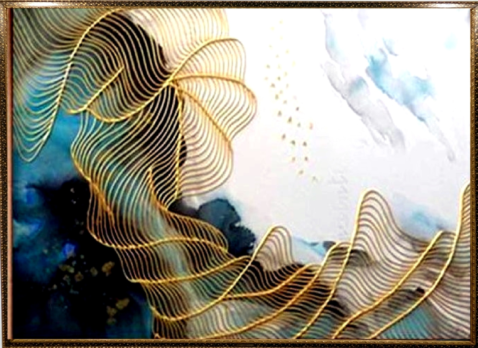 Tablouri cu foita de aur, pictura cu foita aur.