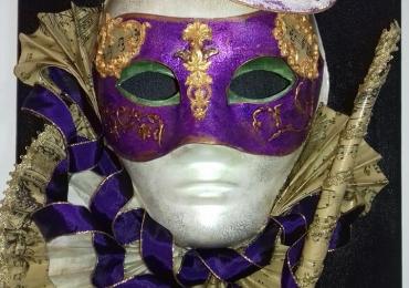 Tablou masca venetiana 30×40 cm