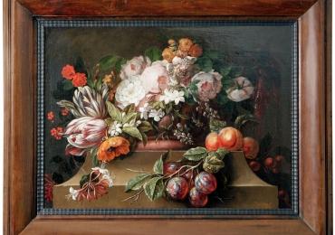 18th Century Dutch Still Life Oil Painting, Buchet de flori, tablou cu flori galbene, tablou floral
