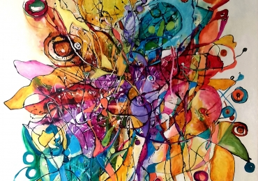 abstract mare multicolor, Bissinger