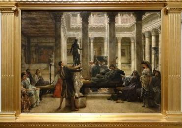 A Roman Amateur,  Lawrence Alma Tadema, tablou cu interior, tablou cu scena romana, tablouri living, picturi in ulei pe panza, picturi cu peisaje