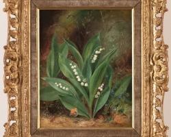 Albert Dürer Lucas, Lily of the Valley, Tablou cu fiori albe, tablou cu flori de gradina, tablou floral