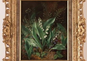 Albert Dürer Lucas, Lily of the Valley, Tablou cu lacramioare, tablou cu flori albe, tablou cu flori de primavara