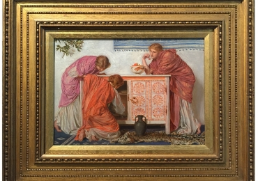 Albert Moore, Pomegranates, 1865, Tablou celebru, tablou pictat manual in ulei pe panza, tablou scena Romana