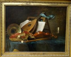 Anne Vallayer Coster, Musical instruments 1770, Tablouri cu instrumente muzicale Realiz