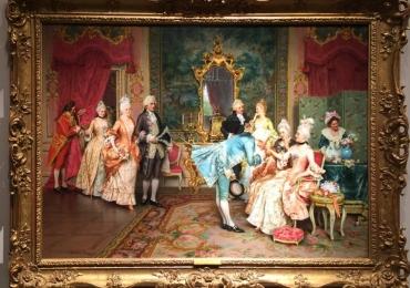 Arturo Ricci, Tablou cu interior somptuos, tablou rococ, tablou cu bal, tablou cu nobili, tablou cu interior elegant, Tablou cu nobili