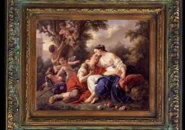 Arturo Ricci, reproducere celebra, tablou cu peisaj celebru, tablou cu scena pastorala, tablou cu indragostiti, tablou cu ingerasi