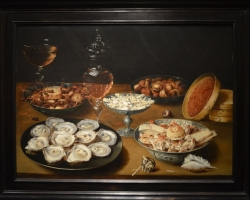 Banquet Piece with Oysters, Fruit and Wine, Tablouri cu fructe vin si stridii Realizate la Coman