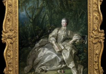 Boucher François, Portrait Madame de Pompadour 1758-, tablou Victorian, tablou cu femeie eleganta, tablou cu peisaj de vara