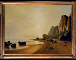 Bradford Coast of Labrador Painting. Tablou pictat manual in ulei pe panza. P