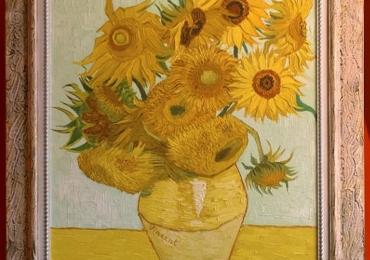 Buchet de flori, tablou cu flori in vaza, Van Gogh, floarea soarelui, Vas cu fiori, tablou cu flori de gradina, tablou floral
