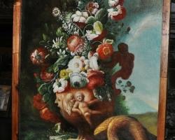 Buchet de flori, tablou cu flori in vaza, tablou floral, Tablou natura moarta, tablou natura statica,