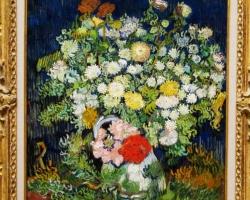 Buchet de flori, tablou cu flori in vaza, tablou floral, Vincent van Gogh, Bouquet of Flowers in a Vase