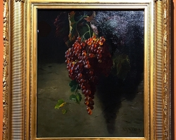 Bunch of Grapes, reproducere pictor celebru Andrew John Henry Way, 1873, Tablouri cu ciorch