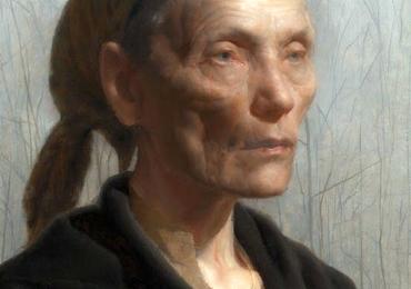 Bunica. Tablouri pictate cu portrete de femei, Tablouri pictate manual, Portret de bunici