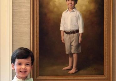 Cadou ideal pentru baietei, portret de copil, Cele mai inspirate cadouri de craciun, portrete la comanda, Tablouri pictate