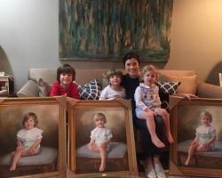 Cadouri 1 martie martisor, portrete la comanda, Tablou pictat manual, cadouri copii, portrete cu copii