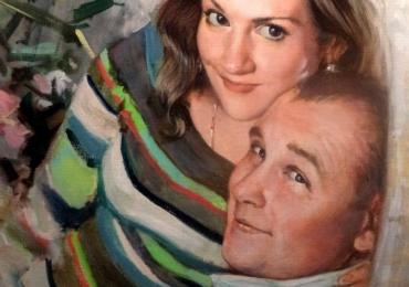 Cadouri inedite, portrete la comanda, Tablouri pictate cu rama sau fara rama, portret de cuplu, portret cu iubita ta