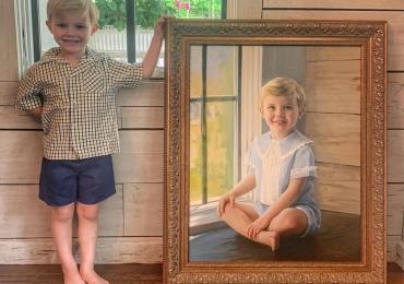 Cadouri pentru casa, portrete la comanda, Tablou pictat dupa poza,