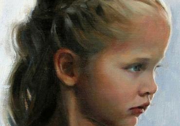 Cadouri pentru craciun, portrete la comanda, Tablouri pictate portrete, portret de fetita, portret din profil