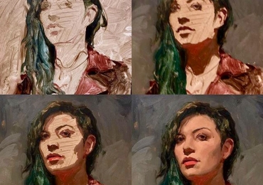 Cadouri pentru iubita, portret la comanda, Tablou pictat pe panza, portrete la comanda, Tablouri pictate personalizate, portret de femeie