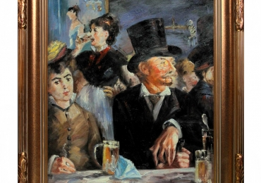 Cafe Concert by Edouard Manet, Tablou cu oameni, tablou cu nobili, tablou celebru, tablouri living, picturi in ulei pe panza, picturi cu peisaje