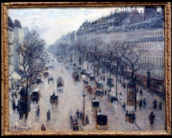 Camille Pissarro, The Boulevard Montmartre on a Winter Morning, 1897 Tab