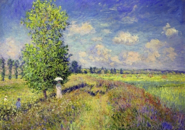 Camp de flori, Claude Monet The Summer, Poppy Field, 1875 Pictura celebra pictata manual