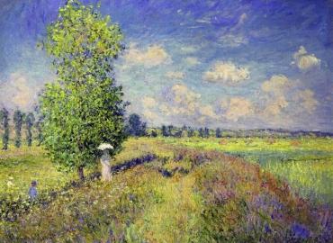 Camp de flori, Claude Monet The Summer, Poppy Field, 1875 Pictura celebra pictata manual