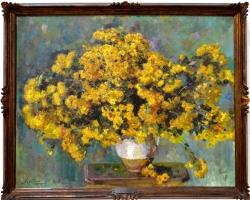 Carlo Siviero Asters, Tablouri cu buchet de flori galbene Realizate la Comanda, Reproduceri Pic