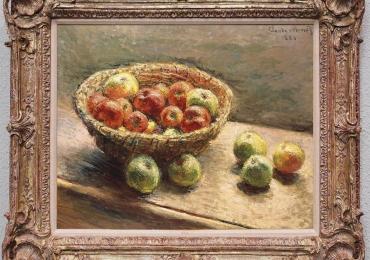 Claude Monet Cesto di mele, tablou natura moarta cos cu fructe, tablou cu mere, tablou natura statica