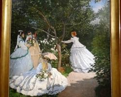 Claude Monet Femmes au jardin, Tablou cu peisaj de vara, tablou cu parc, tablou cu flori, peisaj din natura, tablou cu femei in gradina