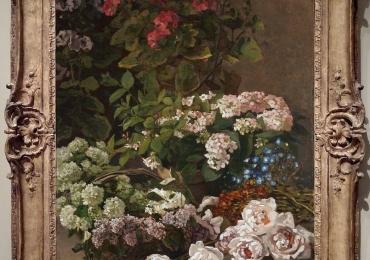 Claude Monet Fiori di primavera, Vas cu fiori de gradina, tablou cu flori de toamna, tablou floral