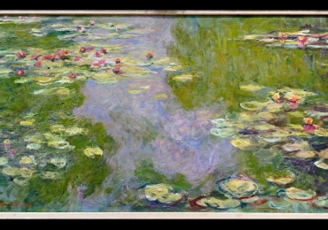 Claude Monet Waterlilies, Tablou cu tema abstracta, tablou inmpresionist, tablou sufragerie, tablou dimensiune mare, tablou cu flori