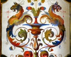 Decoratiuni reproduse de pe fresca de la Vatican, Reproducere cu dragon, Vatican reproduceri celebre