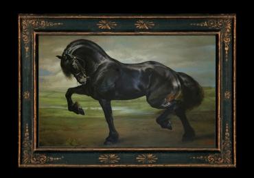 Echitatie in natura cu cei mai frumosi cai, tablou cu animale salbatice, tablouri cu ani