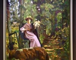 Edouard Vuillard L'alleetablou peisaj de vara, tablou cu femeie in padure, Tablouri Pictori Celebri, Reproduceri Picturi Celebre