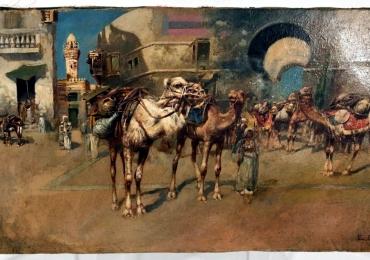 Edwin Lord Weeks Orientalist Cityscape, Tablou oriental, tablou cu arabi, tablou cu camile, tablou cu moschee