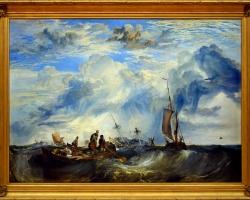 Entrance to the Meuse, Joseph Mallord William Turner, Tablou cu peisaj marin, tablou cu  vapoare in largul marii, tablou cu valurile marii