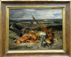 Eugene Delacroix Still life with lobsters, 1827, Tablouri cu flori Realizate la Comanda, Reprodu