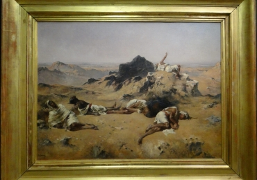 Eugene Fromentin Le Pays de la soif, Tablou celebru, tablou cu peisaj arid, tablou cu peisaj de vara, tablou dramatic