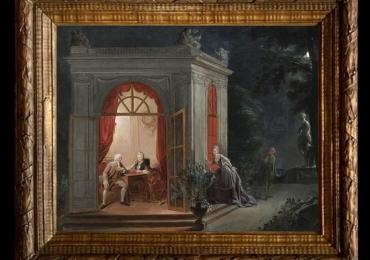 Eugene Lucas y Villamil, Tablou cu peisaj de vara, tablou cu scena nocturna, tablouri living, picturi in ulei pe panza, picturi cu peisaje