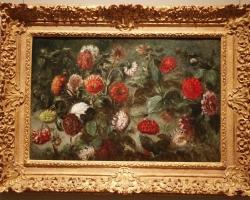 Flori intr-un buchet, Eugene Delacroix, Tufa de maci salbatici, tablou cu flori de camp, tablou cu flori in salbatice, tablou floral