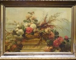 Flowers Still Life Master Antique Oil Painting, Tablouri cu flori Realizate la Comanda, Reprodu