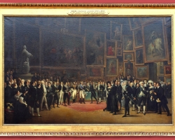 François-Joseph Heim Charles X presenting awards to the artists at the close of the 1824, Tablou cu interior de muzeu, tablou celebru
