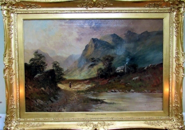 Frank Jamieson Fabulous Scottish Loch Lomond Landscape Oil, Tablou picta