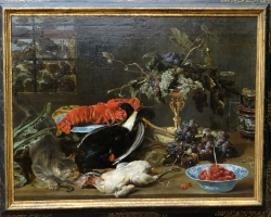 Frans Snyders Still life with lobster and fruit, tablou natura moarta, tablou natura statica