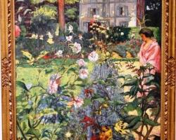 Garden at Vaucresson, Edouard Vuillard French, tablou peisaj de vara cu femeie in gradina, Tablouri Pictori Celebri, Reproduceri Celebre