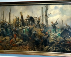 Georg Schobel Storming of Hill, Tablou cu batalie, tablou cu scena de razboi, tablou istoric